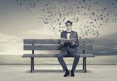 τρισδιάστατο όμορφο άτομο τρία απεικόνισης αριθμού βιβλίων διαστατικό πολύ Στοκ εικόνες με δικαίωμα ελεύθερης χρήσης