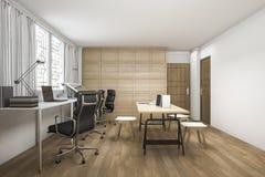 τρισδιάστατο όμορφο ξύλινο λειτουργώντας δωμάτιο απόδοσης Στοκ εικόνες με δικαίωμα ελεύθερης χρήσης