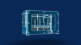 τρισδιάστατο ύφος καλωδίων εκτυπωτών, σπάσιμο απεικόνιση αποθεμάτων