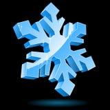 τρισδιάστατο διανυσματικό snowflake Στοκ εικόνες με δικαίωμα ελεύθερης χρήσης