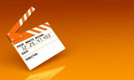 τρισδιάστατο clapperboard για τον κινηματογράφο απεικόνιση αποθεμάτων