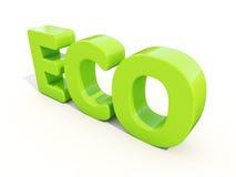 τρισδιάστατο Eco Στοκ Εικόνα