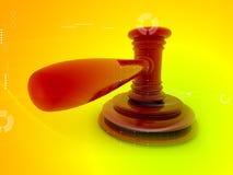 τρισδιάστατο gavel Στοκ εικόνα με δικαίωμα ελεύθερης χρήσης