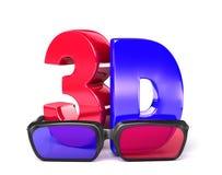 τρισδιάστατο Glasses&3D Στοκ Φωτογραφία