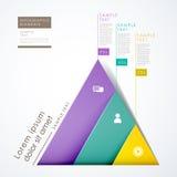 τρισδιάστατο infographics πυραμίδων εγγράφου αφηρημένο