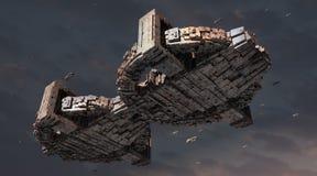 τρισδιάστατο UFO Στοκ Φωτογραφία