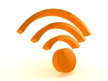 τρισδιάστατο wifi εικονιδί&omeg Στοκ Εικόνα