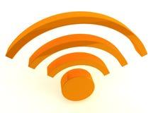τρισδιάστατο wifi εικονιδί&omeg Στοκ φωτογραφίες με δικαίωμα ελεύθερης χρήσης