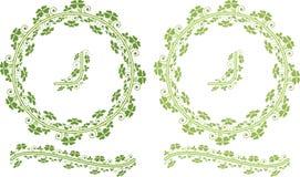 τριφύλλι συνόρων floral Στοκ Εικόνες