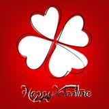 Τριφύλλι μορφής καρδιών Στοκ φωτογραφία με δικαίωμα ελεύθερης χρήσης