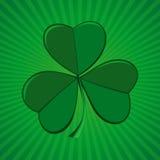 Τριφύλλι στο πράσινο αναδρομικό υπόβαθρο Τριφύλλι, trifoliate τριφύλλι - σύμβολο της Ιρλανδίας Στοκ φωτογραφία με δικαίωμα ελεύθερης χρήσης