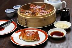 Τριχωτά καβούρια της Σαγκάη, κινεζική κουζίνα Στοκ Εικόνες