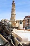 Τριχώδες τετράγωνο Plaza del σε Σαραγόσα, Ισπανία Στοκ Εικόνες