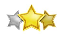 Τριών αστέρων υπηρεσία εκτίμησης Στοκ Εικόνες