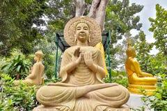 Τριών Βούδας άγαλμα Στοκ εικόνα με δικαίωμα ελεύθερης χρήσης