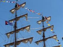 Τριών Masted βάρκα πανιών από το Μεξικό στο λιμάνι της Αβάνας Στοκ φωτογραφία με δικαίωμα ελεύθερης χρήσης