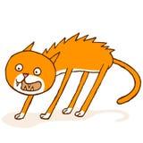 Τρομαγμένη γάτα Στοκ φωτογραφίες με δικαίωμα ελεύθερης χρήσης