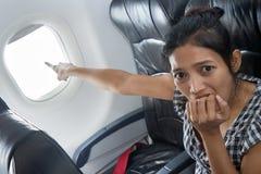 Τρομαγμένος επιβάτης Στοκ εικόνα με δικαίωμα ελεύθερης χρήσης