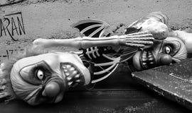 Τρομακτικές κούκλες κλόουν Στοκ Εικόνες