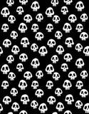 Τρομακτική απεικόνιση αποκριών Άσπρο διανυσματικό σχέδιο κρανίων ελεύθερη απεικόνιση δικαιώματος