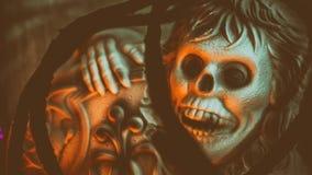 Τρομακτική διακόσμηση αποκριών σκελετών Στοκ φωτογραφίες με δικαίωμα ελεύθερης χρήσης