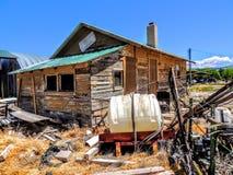 Τρομακτική εγκαταλειμμένη αγροτική οικοδόμηση Στοκ φωτογραφίες με δικαίωμα ελεύθερης χρήσης
