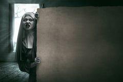 Τρομακτική καλόγρια διαβόλων Στοκ φωτογραφία με δικαίωμα ελεύθερης χρήσης