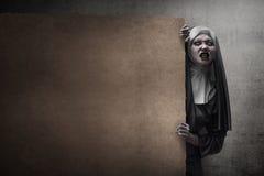 Τρομακτική καλόγρια διαβόλων Στοκ Εικόνες