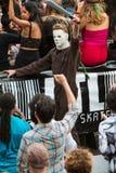 Τρομακτικοί περίπατοι χαρακτήρα κινηματογράφων του Michael Myers στην παρέλαση της Ατλάντας αποκριές Στοκ εικόνα με δικαίωμα ελεύθερης χρήσης