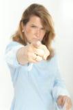 Τρομακτικός θηλυκός προϊστάμενος Στοκ φωτογραφία με δικαίωμα ελεύθερης χρήσης