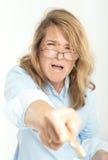 Τρομακτικός θηλυκός προϊστάμενος Στοκ φωτογραφίες με δικαίωμα ελεύθερης χρήσης