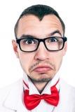 Τρομακτικό πρόσωπο εργαστηρίων geek Στοκ Φωτογραφία