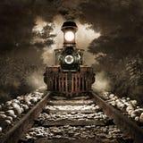 Τρομακτικό τραίνο ελεύθερη απεικόνιση δικαιώματος