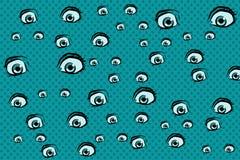 Τρομακτικό υπόβαθρο ματιών ελεύθερη απεικόνιση δικαιώματος