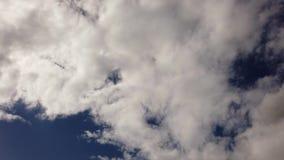 Τρομερά ελαφριά άσπρα σύννεφα altocumulus - χρονικό σφάλμα, καλός καιρός και φυσικός ουρανός απόθεμα βίντεο