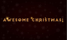 Τρομερά Χριστούγεννα! διανυσματική απεικόνιση