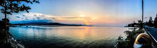 Τρομερή άποψη ηλιοβασιλέματος προορισμού Koh Samui Ταϊλάνδη Στοκ Εικόνες