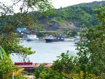 Τρομερή άποψη στο Όουκ Ριτζ, Roatan, Ονδούρα στοκ φωτογραφίες με δικαίωμα ελεύθερης χρήσης