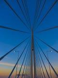 Τρομερή αρχιτεκτονική γεφυρών στην πρωτεύουσα της Σερβίας Στοκ εικόνα με δικαίωμα ελεύθερης χρήσης