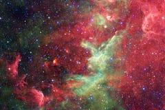 Τρομερός γαλαξίας στο μακρινό διάστημα Starfields του ατελείωτου κόσμου στοκ εικόνες με δικαίωμα ελεύθερης χρήσης