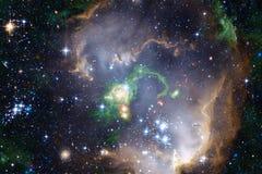 Τρομερός γαλαξίας στο μακρινό διάστημα Starfields του ατελείωτου κόσμου στοκ εικόνες