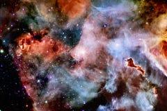 Τρομερός του βαθιού διαστήματος Δισεκατομμύρια των γαλαξιών στον κόσμο στοκ εικόνες