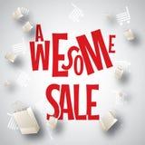 Τρομερό άσπρο κόκκινο σχέδιο πώλησης Στοκ Εικόνες