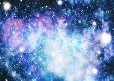 Τρομερό νεφέλωμα στο βαθύ διάστημα Γαλαξίας και νεφέλωμα abstract background space Διανυσματική απεικόνιση