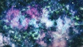 Τρομερό νεφέλωμα στο βαθύ διάστημα Γαλαξίας και νεφέλωμα abstract background space Στοκ Φωτογραφίες