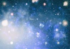Τρομερό νεφέλωμα στο βαθύ διάστημα Γαλαξίας και νεφέλωμα abstract background space Στοκ Εικόνες