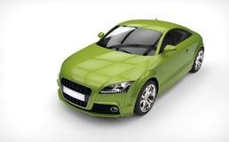 Τρομερό πράσινο αυτοκίνητο - τοπ άποψη στοκ εικόνα