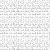 Τρομερό σχέδιο σχεδίων ελεφάντων άνευ ραφής απεικόνιση αποθεμάτων