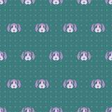 Τρομερό χαριτωμένο διανυσματικό ζωικό άνευ ραφής σχέδιο σκυλιών κουταβιών ελεύθερη απεικόνιση δικαιώματος