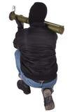 Τρομοκράτης με το εκτοξευτή χειροβομβίδων μπαζούκας Στοκ Εικόνες